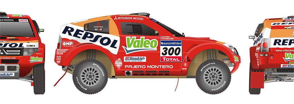 Stephan Peterhansel Mitsubishi Pajero Dakar Winner