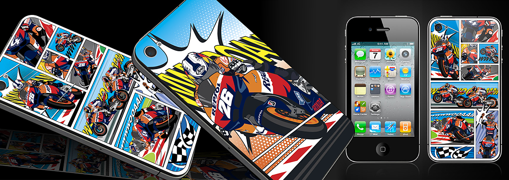 Repsol - iPhone 4 Cover Illustrations